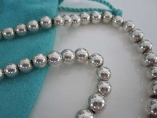 Tiffany & Co. Sterling Silver Graduated Bead Ball Necklace