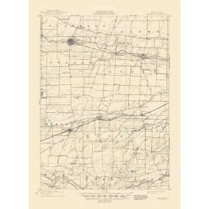 USGS TOPO MAP BERGEN QUADRANGLE NEW YORK (NY) 1899 Home