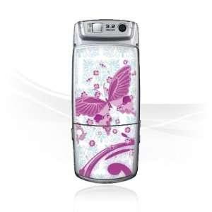 Design Skins for Samsung U700   Pink Butterfly Design