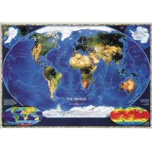 Geographic RE00622011 Satellite World Map   Laminated Toys & Games