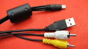 Mini Usb Input To RCA + USB A Male Output Audio Cable