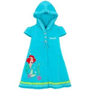 New Disney PRINCESS ARIEL Hooded Cover Up Size 4 XS
