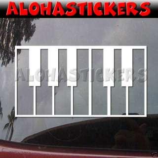 PIANO KEYS Key Vinyl Decal Car Truck Window Sticker N49