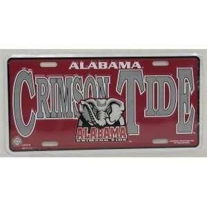 ALABAMA CRIMSON TIDE METAL License Plate Tag  Sports