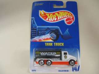 Hot Wheels 1991 Tank Truck, Water Dust Control, NEW