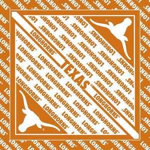 NCAA Collegiate Bandana TEXAS LONGHORNS 22x22 Carolina Mfg