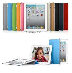 Magnetic Smart Front Cover + Back Case for new Apple iPad 3