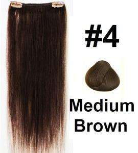 18X5 Double weft Clip in/on 100% Human Hair Extension