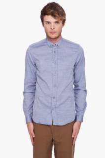 Paul Smith Blue Chambray Shirt for men  SSENSE