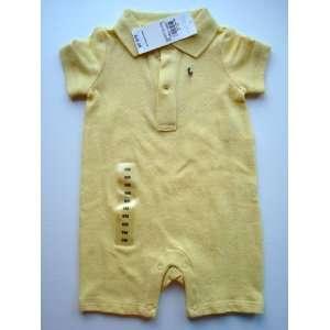 Toddler Baby Boy Girl Yellow Onesie Romper, Size 6 Months Baby