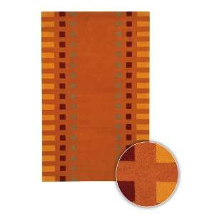 Chandra Rugs Alma HandTufted Rug 310 Orange 20x30