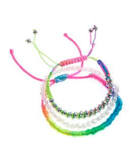 null (Multi Col) 3pk Neon Friendship Bracelets  242070999  New Look