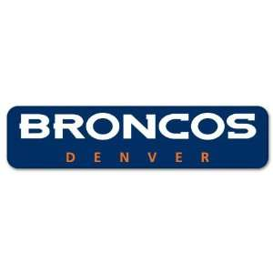 Denver Broncos NFL Football sticker strip 8