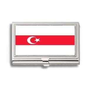 Tatars Tartars Belarus Flag Business Card Holder Metal