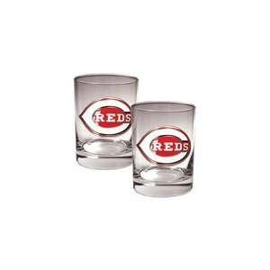Cincinnai Reds MLB 2pc Rocks Glass Se Spors & Oudoors