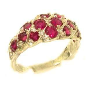 Gold Vibrant Ruby Band Ring   Size 5   Finger Sizes 5 to 12 Available