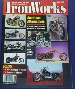 IRON WORKS MOTORCYCLE MAGAZINE JUNE,1998 STREET BIKES