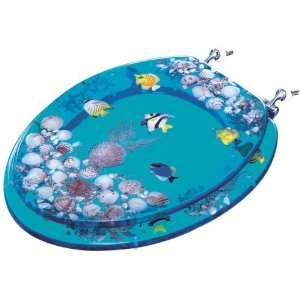 Clear Acrylic Tropical Fish Toilet Seat