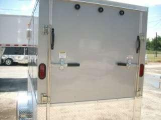 Enclosed Cargo Motorcycle Trailer NEW ATP 360* and ramp door
