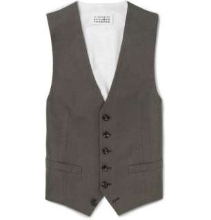 Maison Martin Margiela Pindot Cotton Waistcoat  MR PORTER