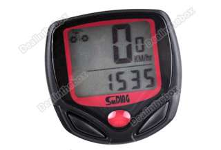 Slim LCD Digital Bike Bicycle Cycle Computer Odometer Speedometer