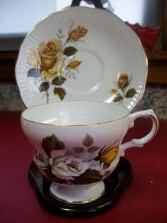 Royal Dover Yellow Rose Bone China Tea Cup & Saucer Set