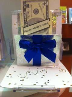 Pop   Up Greeting Card (Money Gift Box Blue)