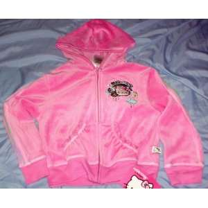 Childs Pink Plush Hello Kitty Hoodie Jacket Extra Small