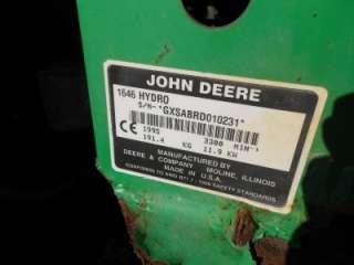 JOHN DEERE SABRE 1646 HYDRO LAWN & GARDEN TRACTOR W/ 46 DECK #119