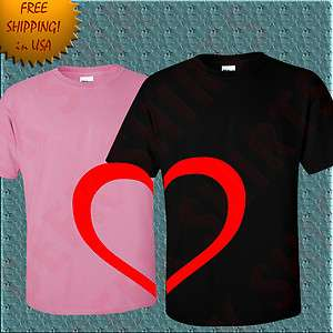 new Valentines Day Love Gift T shirt Romantic Tee shirt for Him and