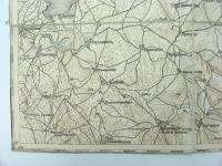WWI WW1 CLOTH ANTIQUE BULGARIAN MEDJIDIE FOLDING MAP