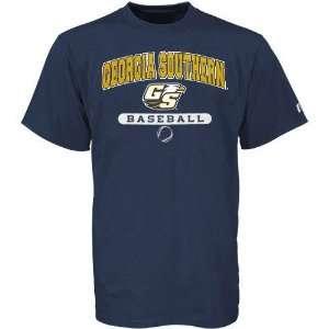 Russell Georgia Southern Eagles Navy Blue Baseball T shirt