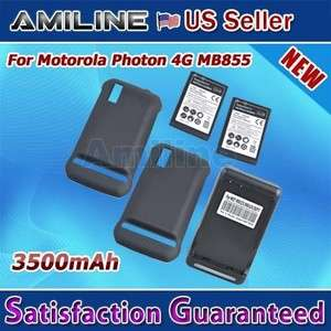 Extended Battery Door Cover Dock Charger for Motorola Photon 4G Mb855