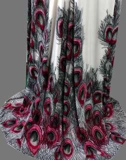 Floral Printed Peacock Halter Rope Maxi Dresses S M L XL 2XL