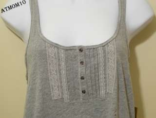 NWT Hollister women Lobster Point Tank Top Gray S M
