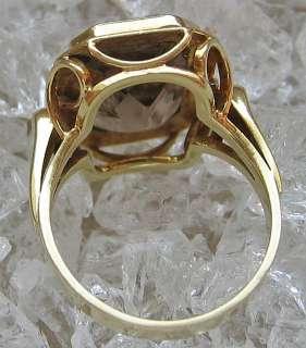 Antikringe 14kt 585 Gold Ring Goldringe mit Rauchtopas Topas Topasring