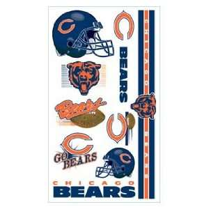 Chicago Bears NFL Football Team Temporary Tattoos Sports