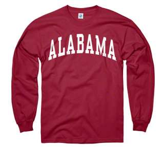 Alabama Crimson Tide Crimson Arch Long Sleeve T Shirt