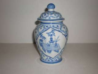 Seymour MANN Fine Porcelain China Blue STILL LIFE Urn