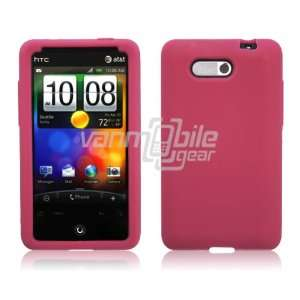 VMG Hot Pink Premium Soft Silicone Rubber Skin Case for HTC Aria (AT&T