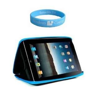 com Apple iPad Cube Case Semi Hard Black Blue Carrying Case for iPad