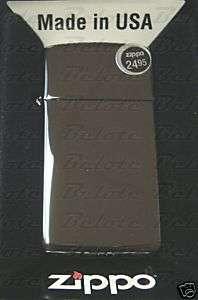 Zippo Black Ice Slim Lighter Model 20492 **NEW in BOX**