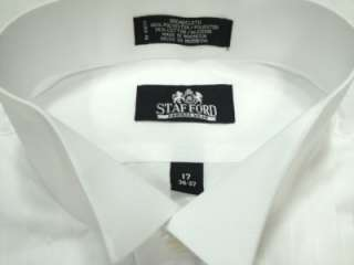STAFFORD White Tuxedo Shirt 17   36/37 NEW