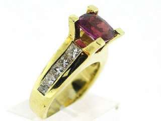 35 CT Tourmaline & Diamond Ladys Ring VS /G 18K Y.G
