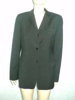 Womens FACONNABLE Italy Tailleur Black Wool Jacket Blazer Sz 44 10 M