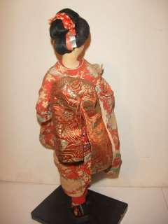 1940s silk geisha dolls