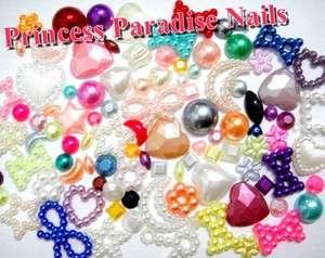 japanese style 3D kawaii deco Nail Art Decoration Pearl set