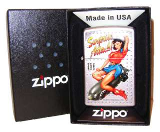 Zippo Lighter Surprise Attack Pin Up Girl   Brand New
