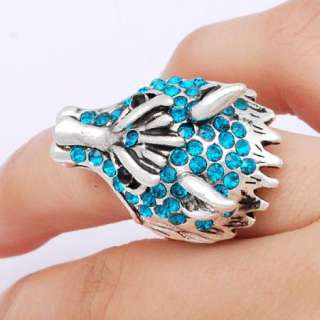 Multi style fashion CZ crystal animals alloy finger rings