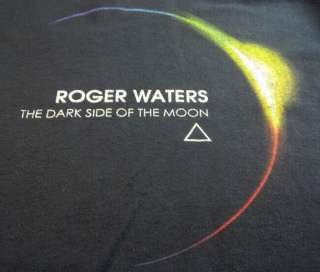 Roger Waters PINK FLOYD Dark Side of the Moon 2007 Tour T Shirt 2XL